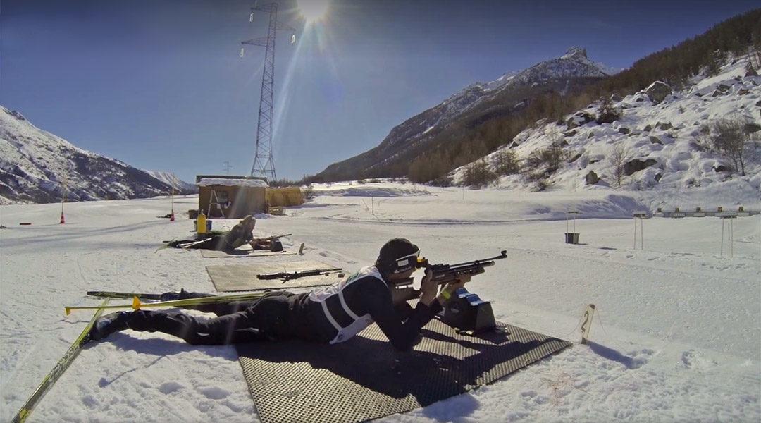 Entrainement de Biathlon à l'UCPA
